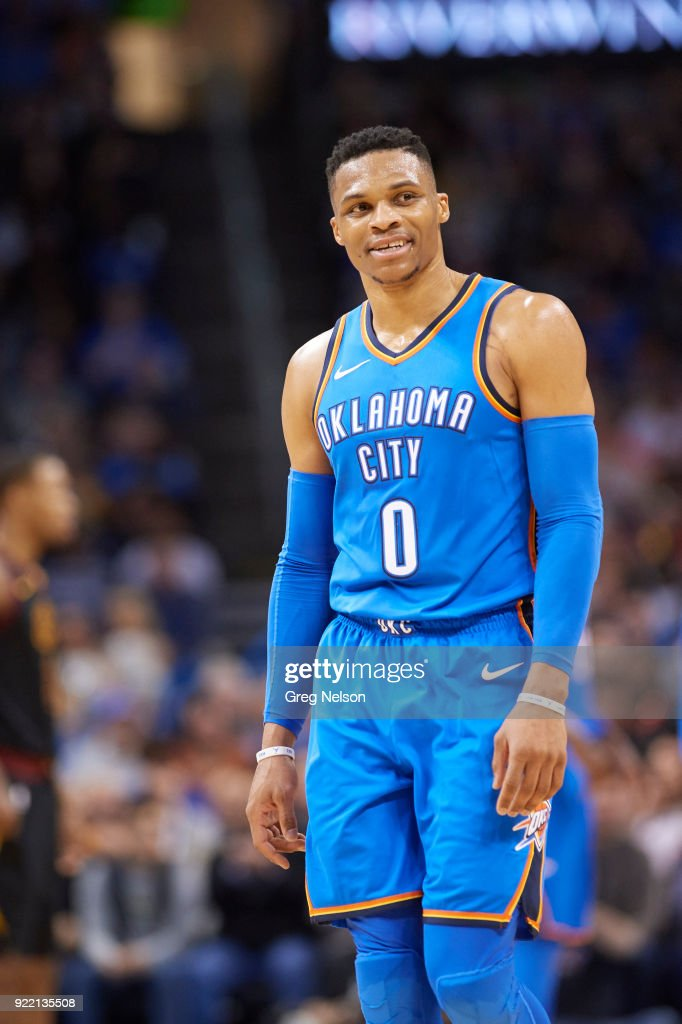 Oklahoma City Thunder Russell Westbrook (0) during game vs Cleveland Cavaliers at Chesapeake Energy Arena. Greg Nelson TK1 )