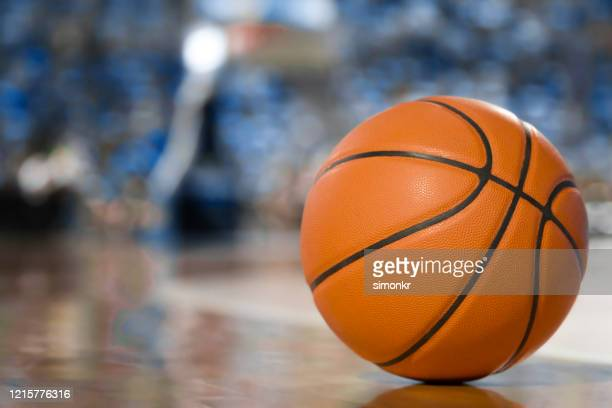 basketball on court - nba stock pictures, royalty-free photos & images