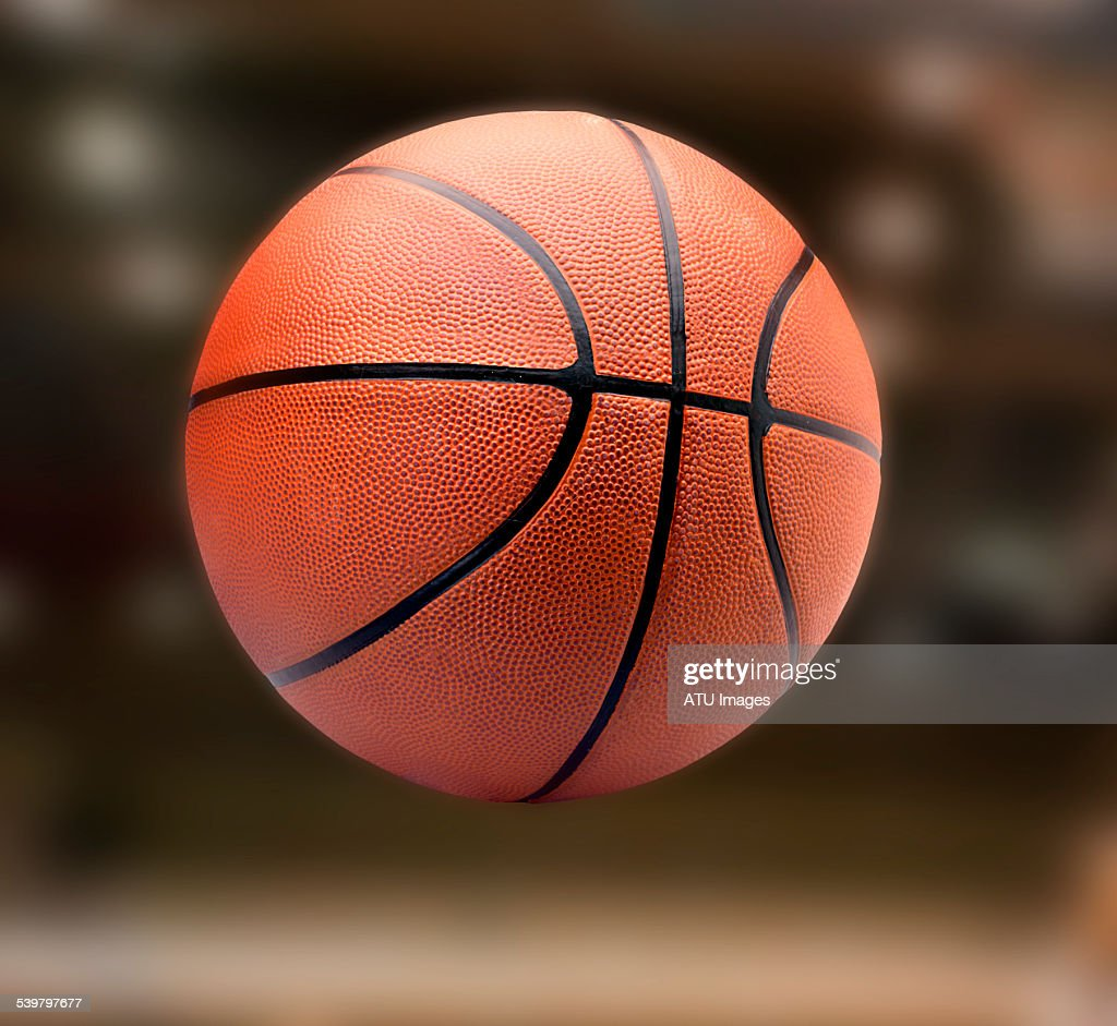 Basketball on court : Stock Photo