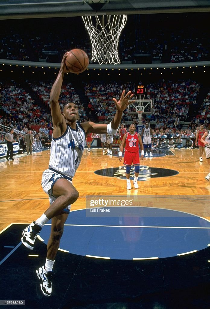 Orlando magic vs washington bullets pictures getty images orlando magic anfernee penny hardaway 1 in action dunk vs washington bullets at sciox Gallery