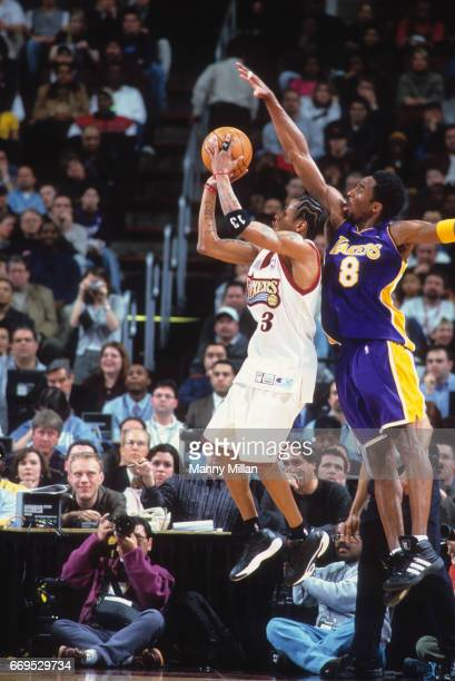 Philadelphia 76ers Allen Iverson in action shot vs Los Angeles Lakers Kobe Bryant at Wells Fargo Center Philadelphia PA CREDIT Manny Millan