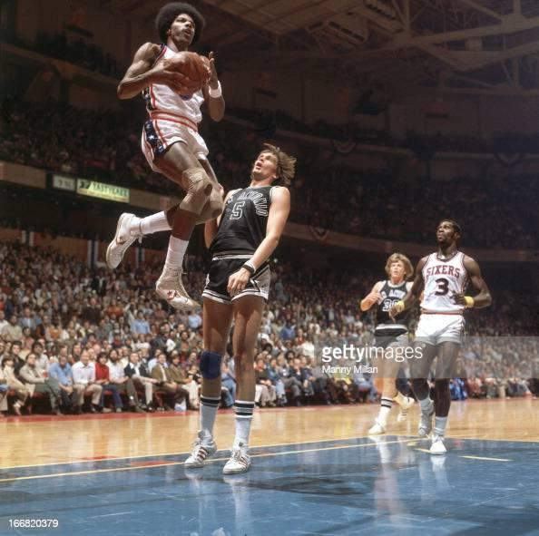 Philadelphia 76ers Julius Erving in action, layup vs San ...