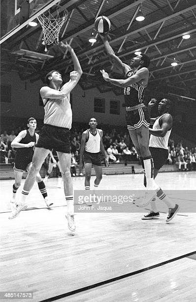 Pittsburgh Pipers Connie Hawkins in action vs Indiana Pacers at Indiana State Fairgrounds Coliseum Indianapolis IN CREDIT John F Jaqua