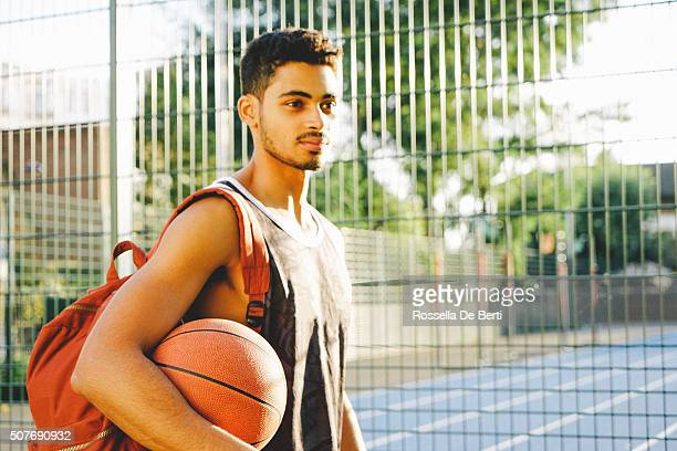 Basketball Player After Match At Playground