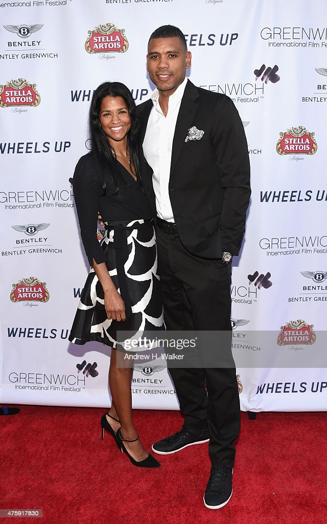 Basketball player Allan Houston and Tamara Houston attend Greenwich Film Festival 2015 - Sports Guys On Sports Movies Premiere & After Party at Cole Auditorium at Greenwich Library on June 4, 2015 in Greenwich, Connecticut.