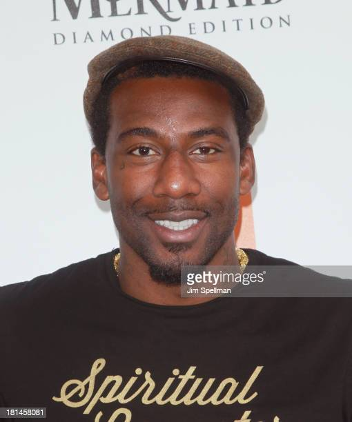 Basketball Player Amar'e Stoudemire attends 'The Little Mermaid' screening at Walter Reade Theater on September 21 2013 in New York City