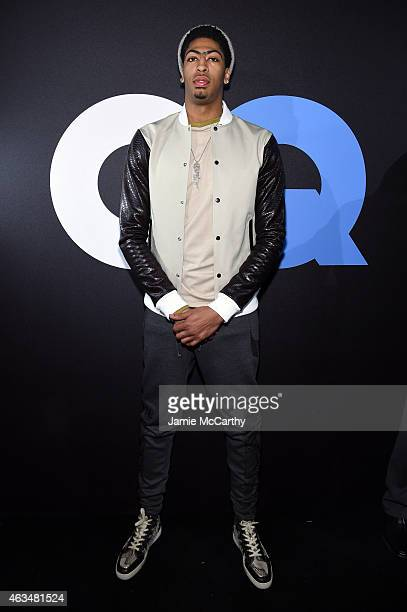 Basketball player Anthony Davis attends GQ and LeBron James Celebrate AllStar Style on February 14 2015 in New York City