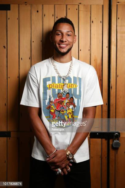 SYDNEY NSW Basketball player Ben Simmons of Philadelphia 76ers poses during a photo shoot in Sydney New South Wales