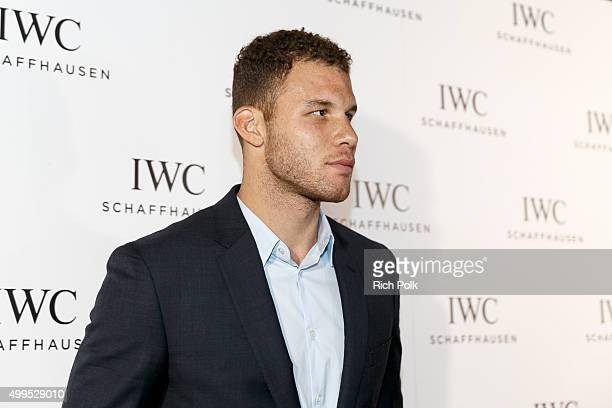 Basketball player Blake Griffin arrives to join guests toast the grand opening of IWC Schaffhausens new Rodeo Drive flagship boutique at IWC...