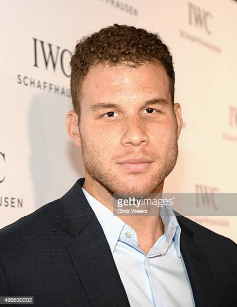 Basketball player Blake Griffin attends IWC Schaffhausen Rodeo Drive Flagship Boutique Opening on December 1, 2015 in Beverly Hills, California.