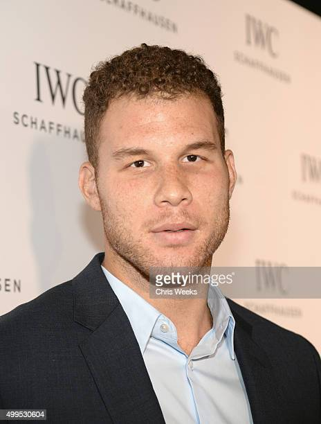 Basketball player Blake Griffin attends IWC Schaffhausen Rodeo Drive Flagship Boutique Opening on December 1 2015 in Beverly Hills California