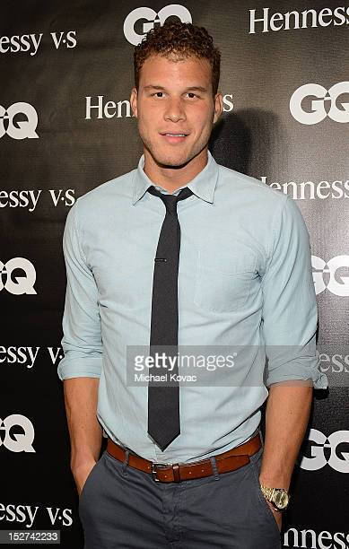 Basketball player Blake Griffin attends the GQ October Cover Party With Chris Paul with Hennessy at Sayer's Club on September 24, 2012 in Los...