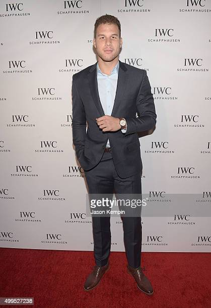Basketball player Blake Griffin attends the IWC Schaffhausen celebration for the Rodeo Drive Grand Opening at IWC Shaffhausen on December 1 2015 in...