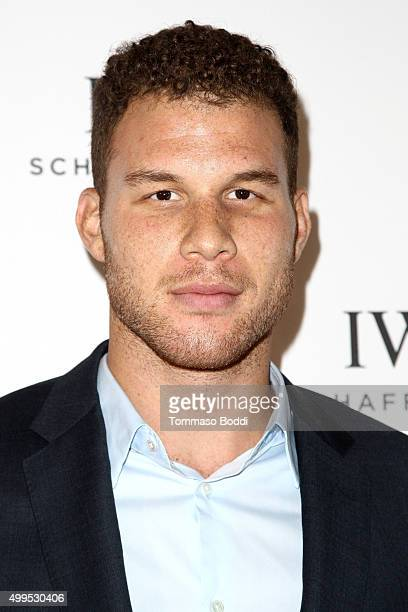 Basketball player Blake Griffin attends the IWC Schaffhausen celebrates Rodeo Drive grand opening held at IWC Shaffhausen on December 1, 2015 in...