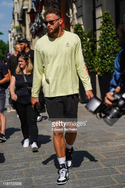 Basket-ball player Blake Griffin is seen, during Paris Fashion Week - Menswear Spring/Summer 2020, on June 22, 2019 in Paris, France.