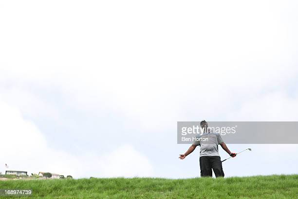 Basketball player Bryon Russell attends the 2nd annual Hank Baskett Classic golf tournament at Terranea Resort and Spa on May 17, 2013 in Rancho...