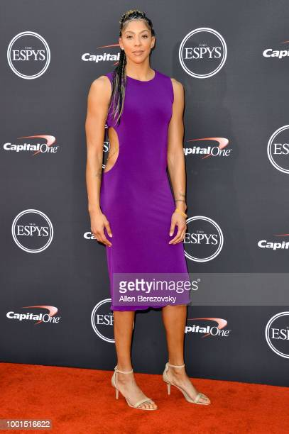 Basketball player Candace Parker attends The 2018 ESPYS at Microsoft Theater on July 18 2018 in Los Angeles California
