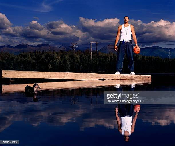 Basketball Player Carlos Boozer on Dock