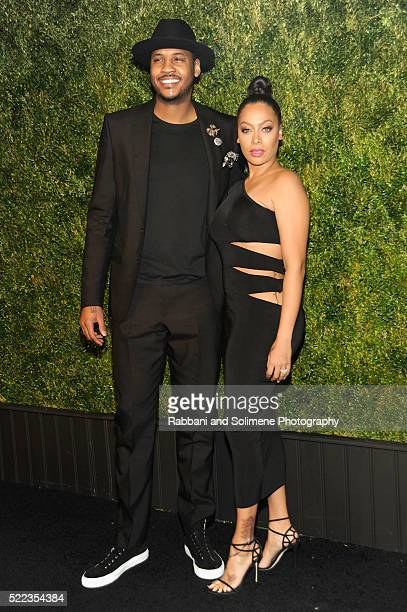 NBA basketball player Carmelo Anthony and television personality La La Anthony attend 11th Annual Chanel Tribeca Film Festival Artists Dinner at...