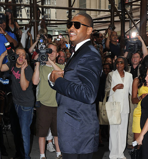 Basketball Player Carmelo Anthony Attends La Vasquez Anthonys Wedding At Cipriani 42nd Street