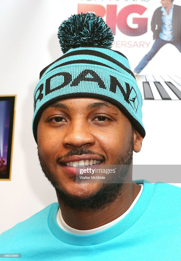 NBA basketball player Carmelo Anthony attends the 'Big' 25th Anniversary Edition Blu-ray Release special screening benefiting the Carmelo Anthony Foundation at AMC Empire on December 20, 2013 in New York City.