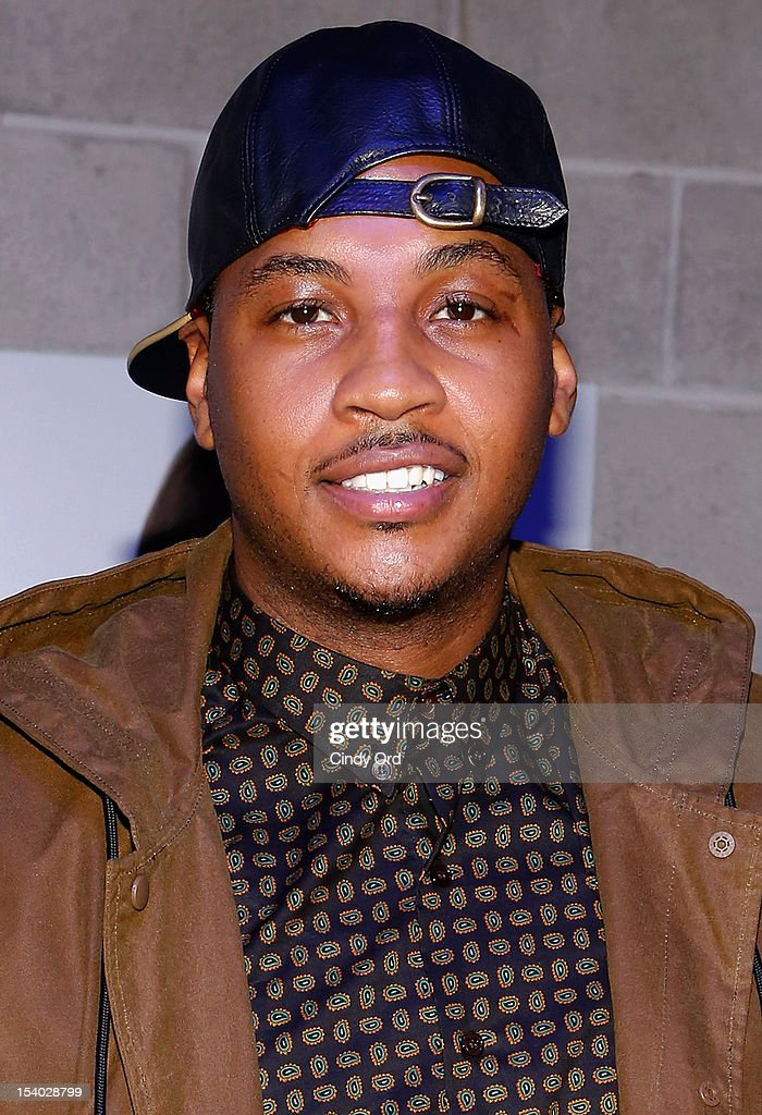 NBA basketball player Carmelo Anthony attends the Rookie USA Flagship Store Opening at Rookie USA on October 12, 2012 in New York City.