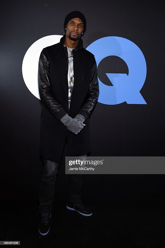 Basketball player Chris Bosh attends GQ and LeBron James Celebrate All-Star Style on February 14, 2015 in New York City.