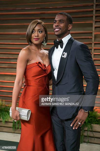 Basketball player Chris Paul arrives at the 2014 Vanity Fair Oscar Party on March 2 2014 in West Hollywood California AFP PHOTO/ADRIAN SANCHEZGONZALEZ