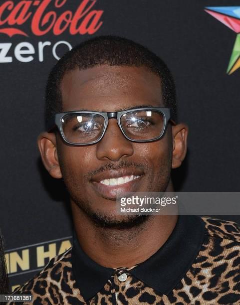 Basketball Player Chris Paul arrives at the premiere of Summit Entertainment and Code Black Film's 'Kevin Hart Let Me Explain' at Regal Cinemas LA...