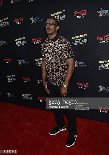 Basketball player Chris Paul arrives at the premiere of Summit Entertainment and Code Black Film's Kevin Hart Let Me Explain at Regal Cinemas LA Live...
