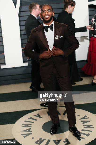 Basketball player Chris Paul attends the 2017 Vanity Fair Oscar Party hosted by Graydon Carter at the Wallis Annenberg Center for the Performing Arts...