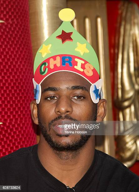 Basketball player Chris Paul hosts 'Feed The Children' Event at The Grove on December 8 2016 in Los Angeles California