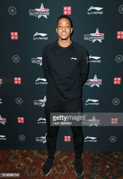 Basketball player CJ McCollum at the LiNing All Star Weekend at The Los Angeles Athletic Club on February 16 2018 in Los Angeles California