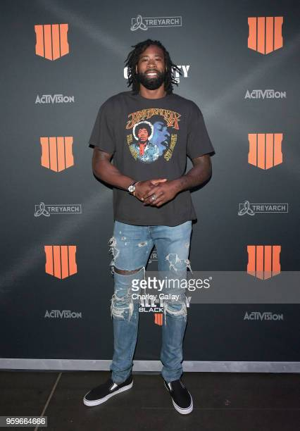 Basketball player DeAndre Jordan arrives on the black carpet at the Call of Duty Black Ops 4 Community Reveal Event in Hawthorne CA on May 17 2018