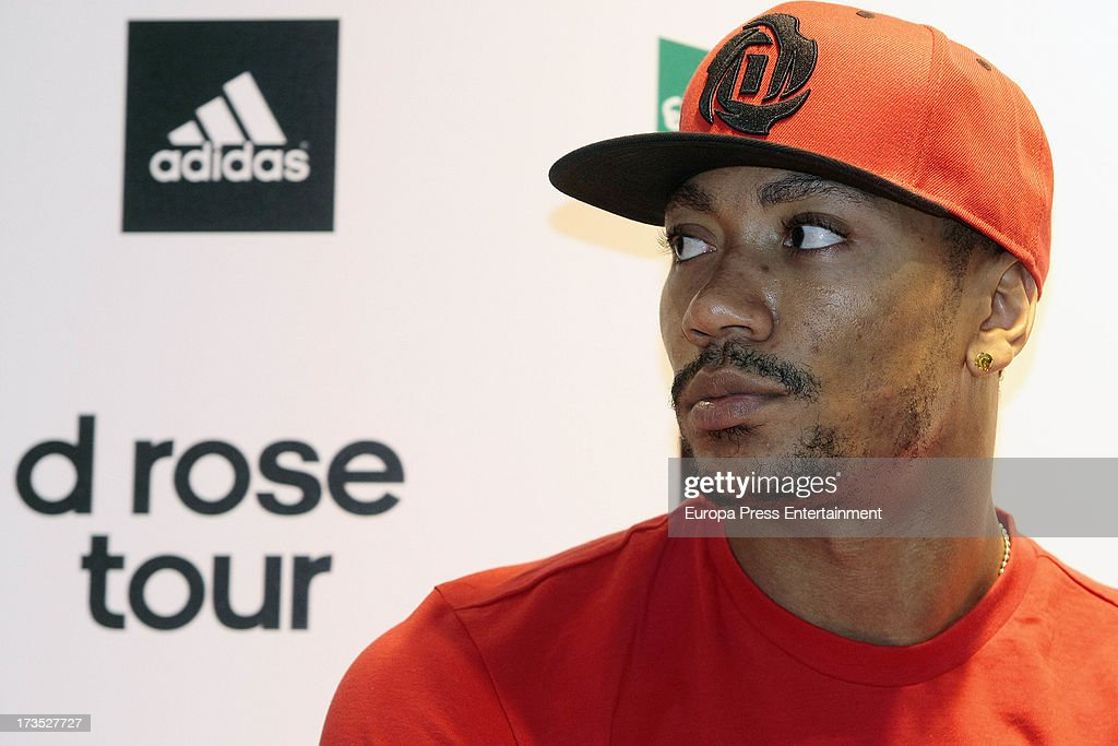 Derrick Rose Attends 'D Rose Tour' Press Conference in Madrid : News Photo