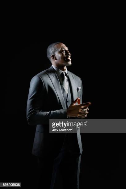 Basketball player Dwight Howard is photographed for Modern Luxury Men's Book Atlanta on January 14 2017 in Atlanta Georgia
