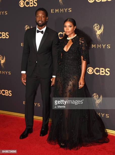 Basketball player Dwyane Wade and actor Gabrielle Union attend the 69th Annual Primetime Emmy Awards at Microsoft Theater on September 17 2017 in Los...