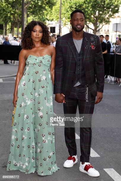 Basketball Player Dwyane Wade and Gabrielle UnionWade on June 21 2017 in Paris France