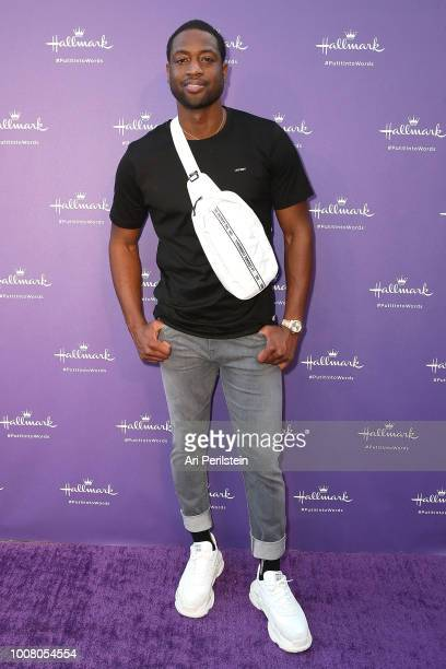 Basketball Player Dwayne Wade arrives at Hallmark's When You Care Enough to Put It Into Words Launch Eventon July 30 2018 in Los Angeles California
