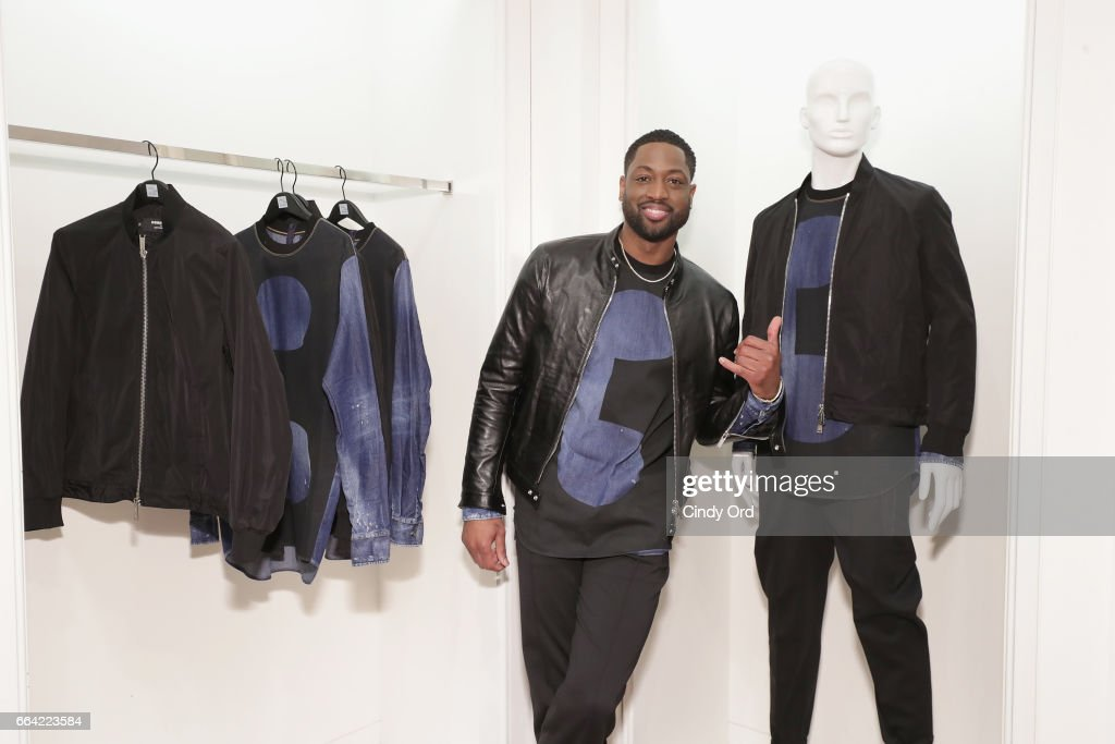 Basketball player Dwyane Wade attends Saks Fifth Avenue Celebrates the Exclusive Launch of The Dsquared2 x Dwyane Wade Capsule Collection at Saks Fifth Avenue on April 3, 2017 in New York City.