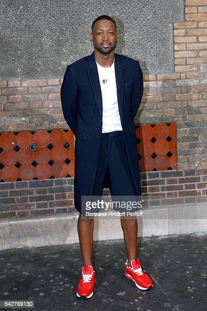 Basketball player Dwyane Wade attends the Givenchy Menswear Spring/Summer 2017 show as part of Paris Fashion Week on June 24 2016 in Paris France