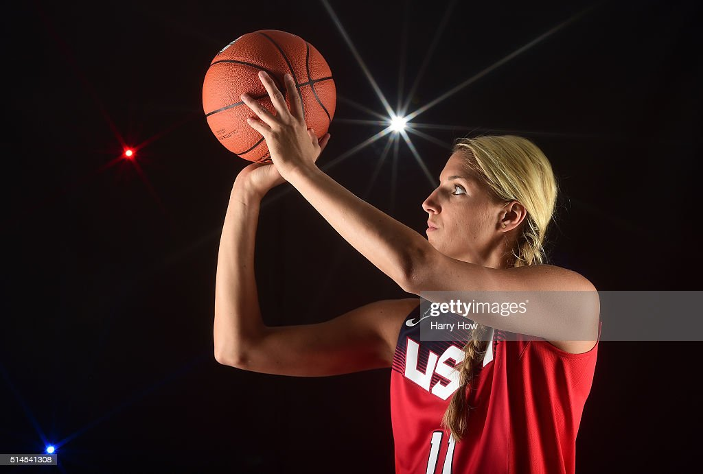 Basketball player Elena Delle Donne poses for a portrait at the 2016 Team USA Media Summit at The Beverly Hilton Hotel on March 9, 2016 in Beverly Hills, California.
