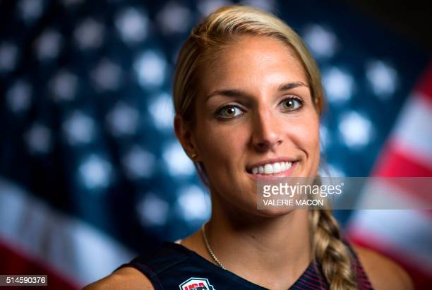 Basketball player Elena Delle Donne poses for a portrait at the 2016 Team USA Media Summit March 9 2016 in Beverly Hills California The 2016 Summer...