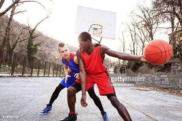Basketball player failed to block the opponent