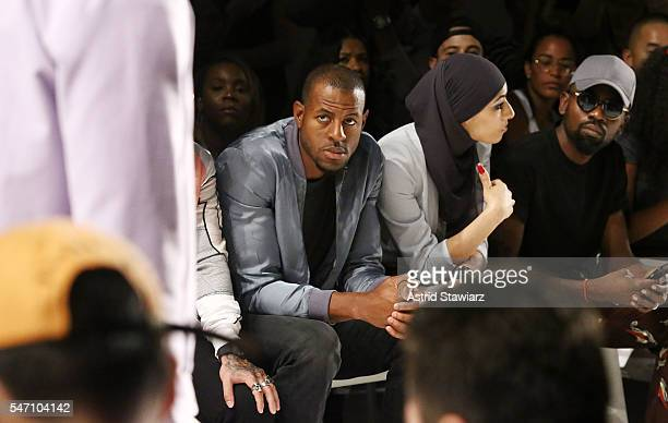 Basketball player for the Golden State Warriors Andre Iguodala and Eman B Fendi attend Rochambeau Front Row New York Fashion Week Men's S/S 2017 at...