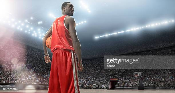 basketball player hero - basketball stadium stock photos and pictures