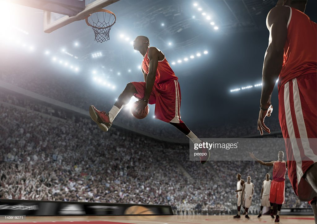 Basketball Player in Action : Stock Photo
