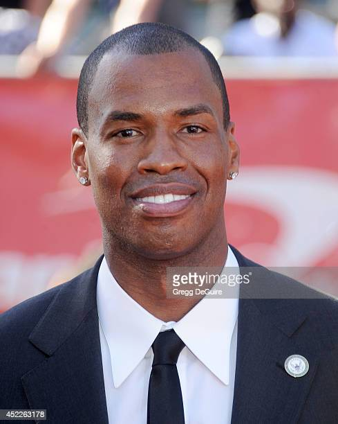 Basketball player Jason Collins arrives at the 2014 ESPY Awards at Nokia Theatre L.A. Live on July 16, 2014 in Los Angeles, California.