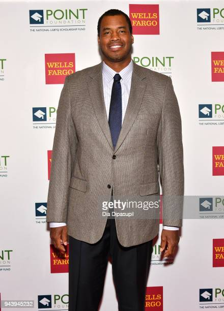 Basketball player Jason Collins attends as Point Foundation hosts Annual Point Honors New York Gala Celebrating The Accomplishments Of LGBTQ Students...