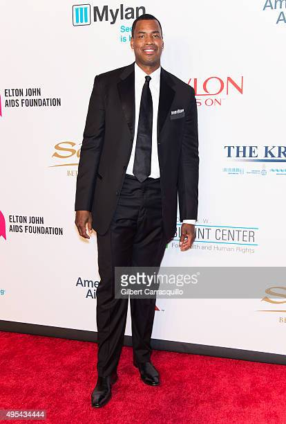 Basketball player Jason Collins attends Elton John AIDS Foundation's 14th Annual An Enduring Vision Benefit at Cipriani Wall Street on November 2,...